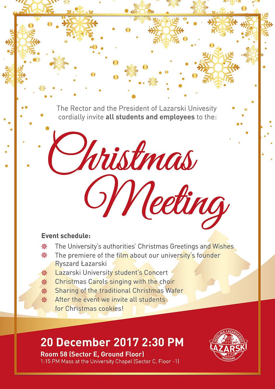 Christmas Meeting For Students And Employees Uczelnia Azarskiego