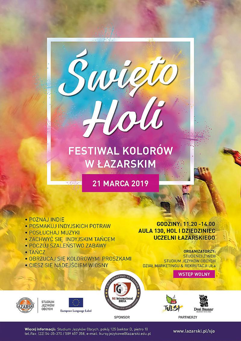święto Holi Czyli Festiwal Kolorów W Pierwszy Dzień Wiosny