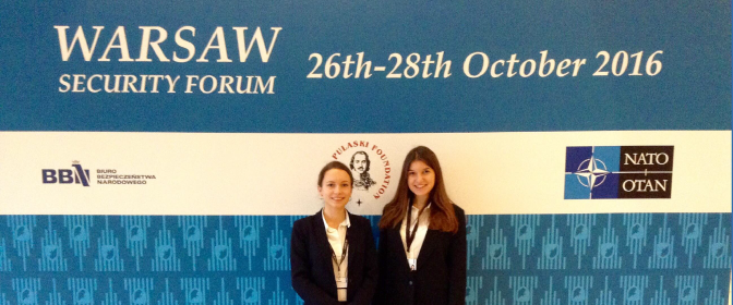 Two representatives took part in the Warsaw Security Forum